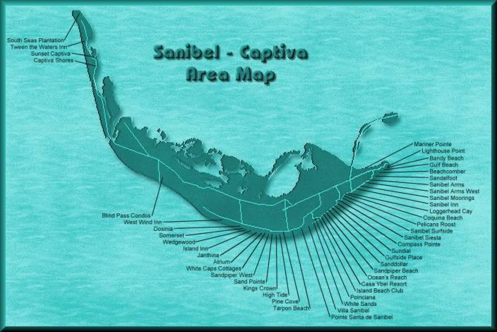 Sanibel Island Attractions Map: Map Of Sanibel Island